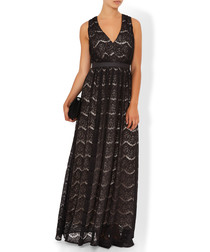 Cloe black patterned maxi dress
