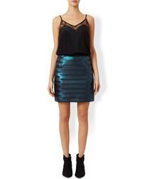 Anna-Lisa teal metallic skirt
