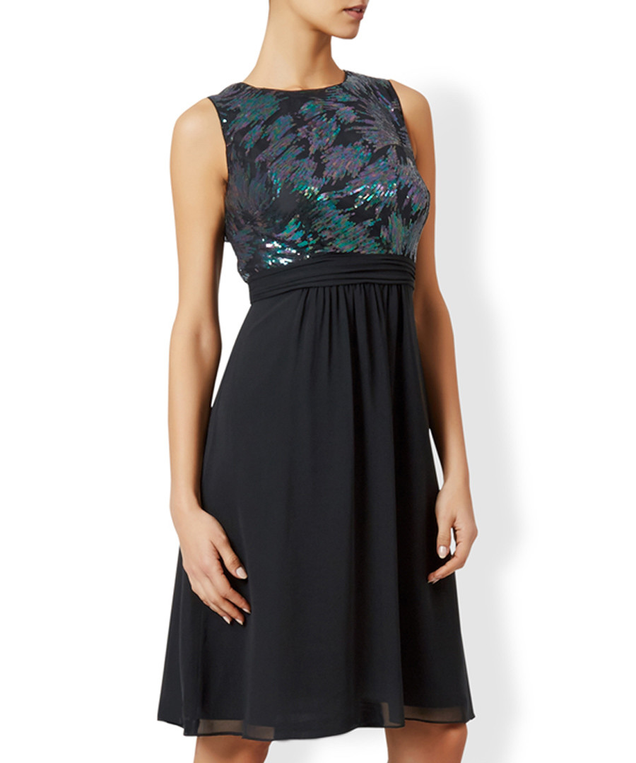 Alina black sleeveless midi dress Sale - monsoon