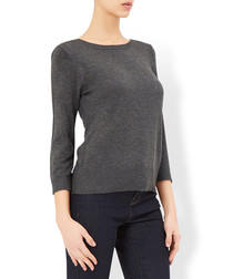 Tanya charcoal wool blend twinkle jumper