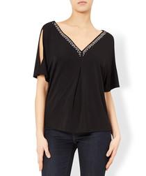 Candis black cold-shoulder blouse
