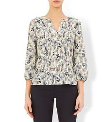 Pansy blush pure silk blouse