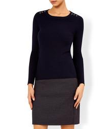 Amber burgundy tweed mini skirt