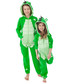 Kids green zip-up animal hooded onesie Sale - ZIPUPS Sale