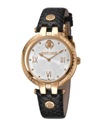 Gold-tone & black analogue watch