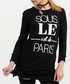 Black pure cotton paris print top Sale - true prodigy Sale