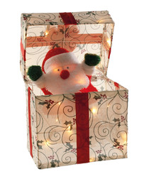 LED Santa parcel animation 28cm