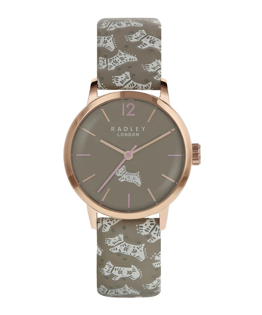 Folk Dog grey leather & steel watch Sale - radley london
