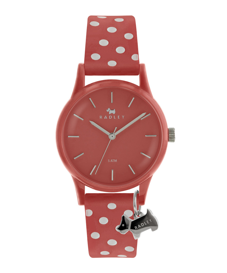 Coral spotted strap silicone watch Sale - radley