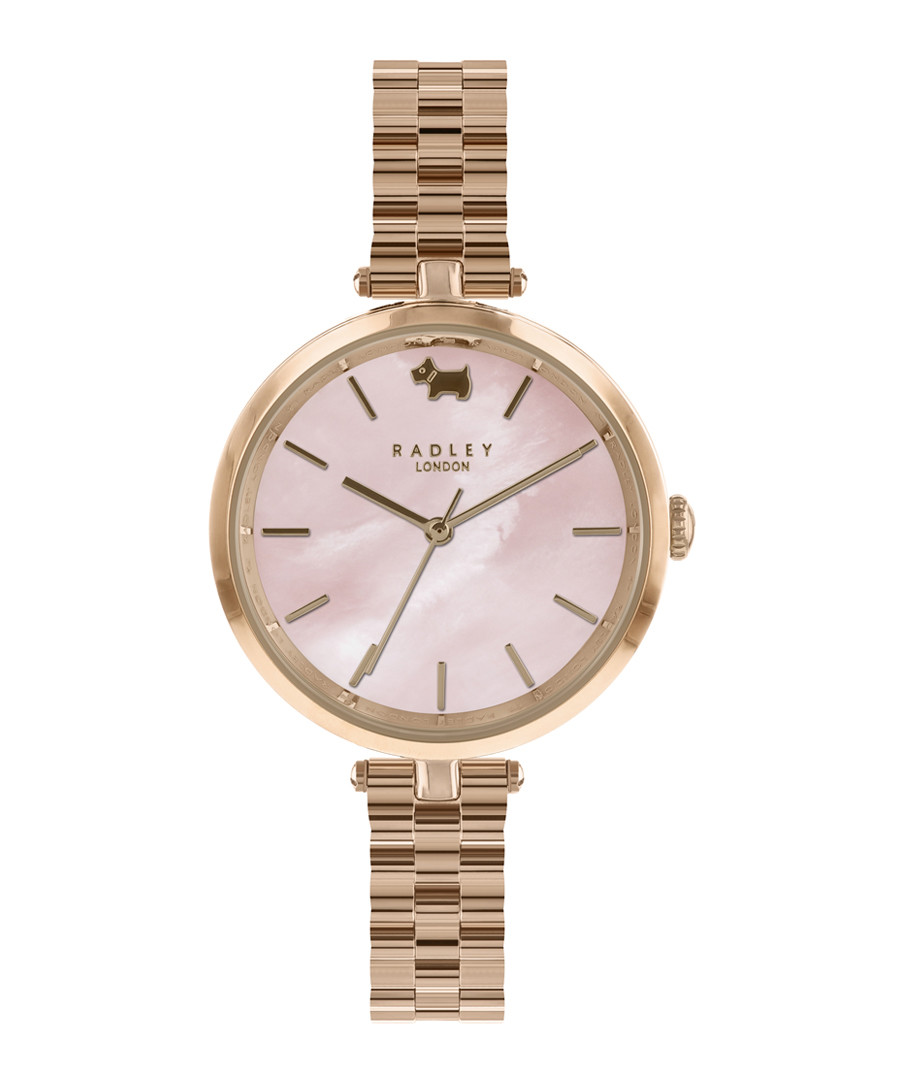 St. Dunstan's rose gold-tone analogue watch Sale - radley