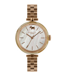 St Dunstan's rose gold-tone steel watch