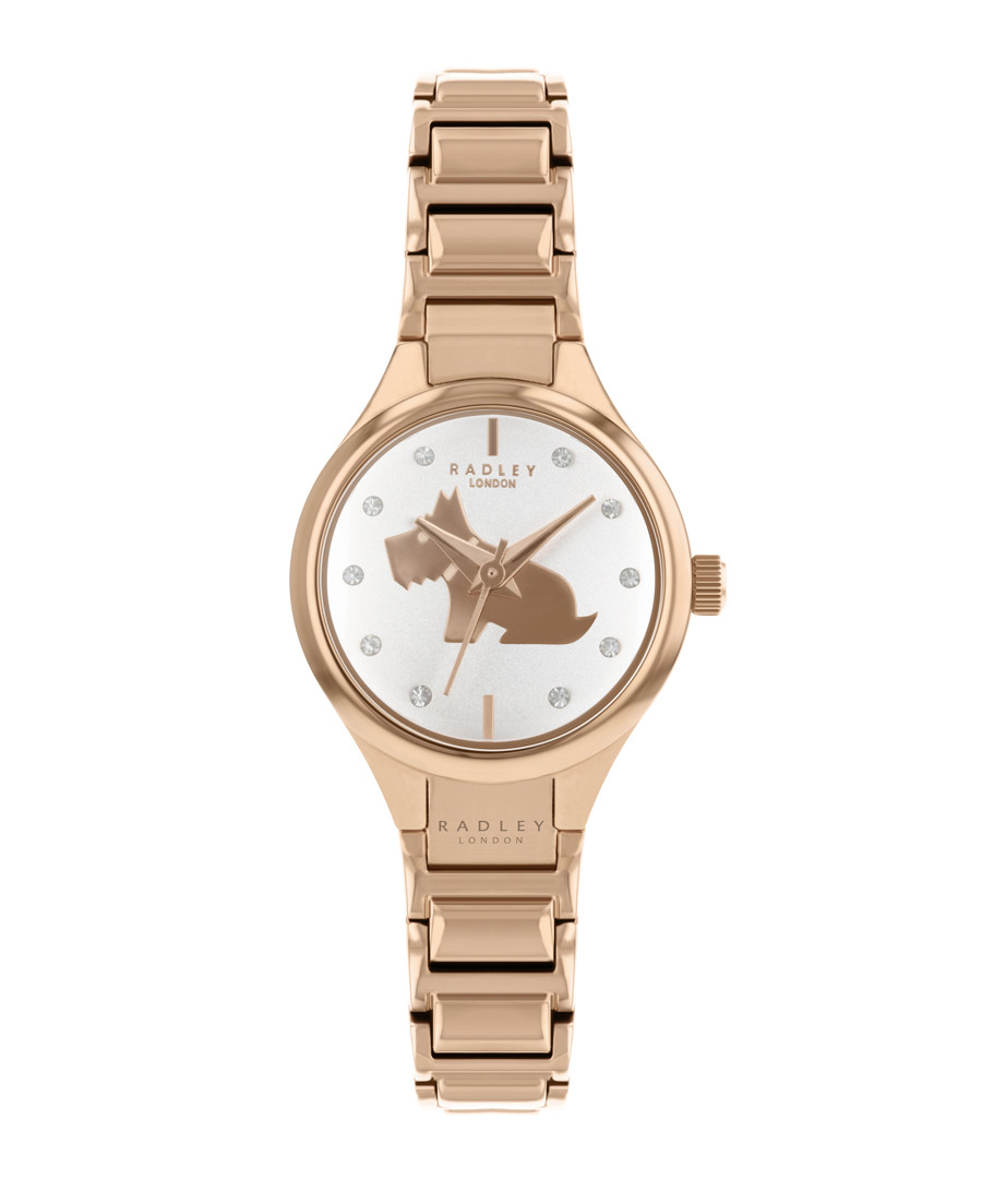 Gold-tone stainless steel dog link watch Sale - radley