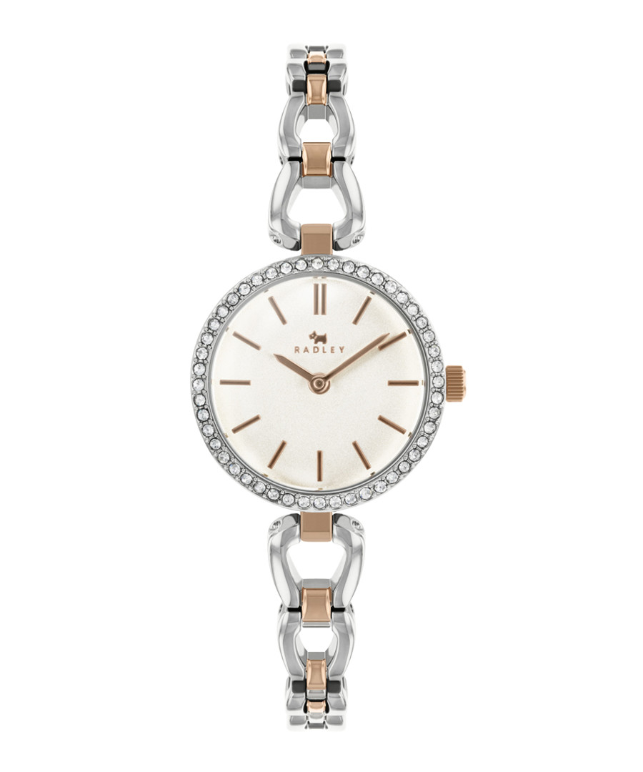 Silver rose gold-tone stainless steel watch Sale - radley london