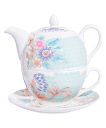 3pc Lucy white china tea for one set