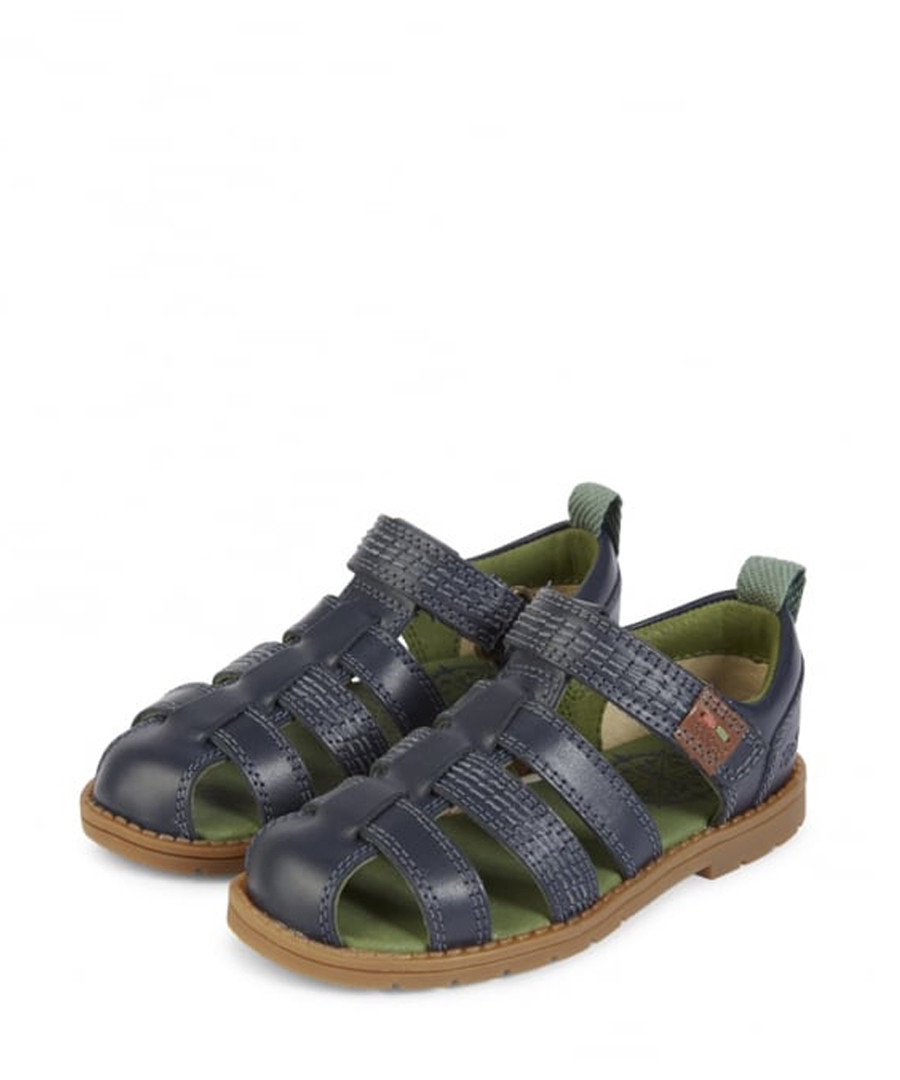 Kids' Orin blue leather sandals Sale - kickers