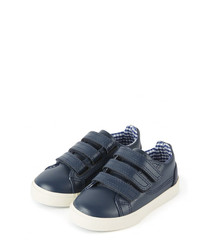 Kids' Tovni navy leather shoes