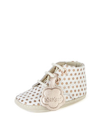 Kids' white lace-up shoes