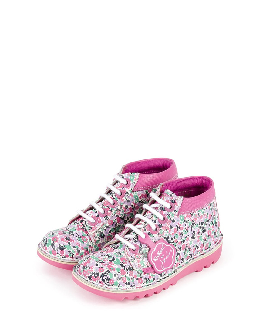 Kids' Kicks pink leather lace-up boots Sale - KICKERS