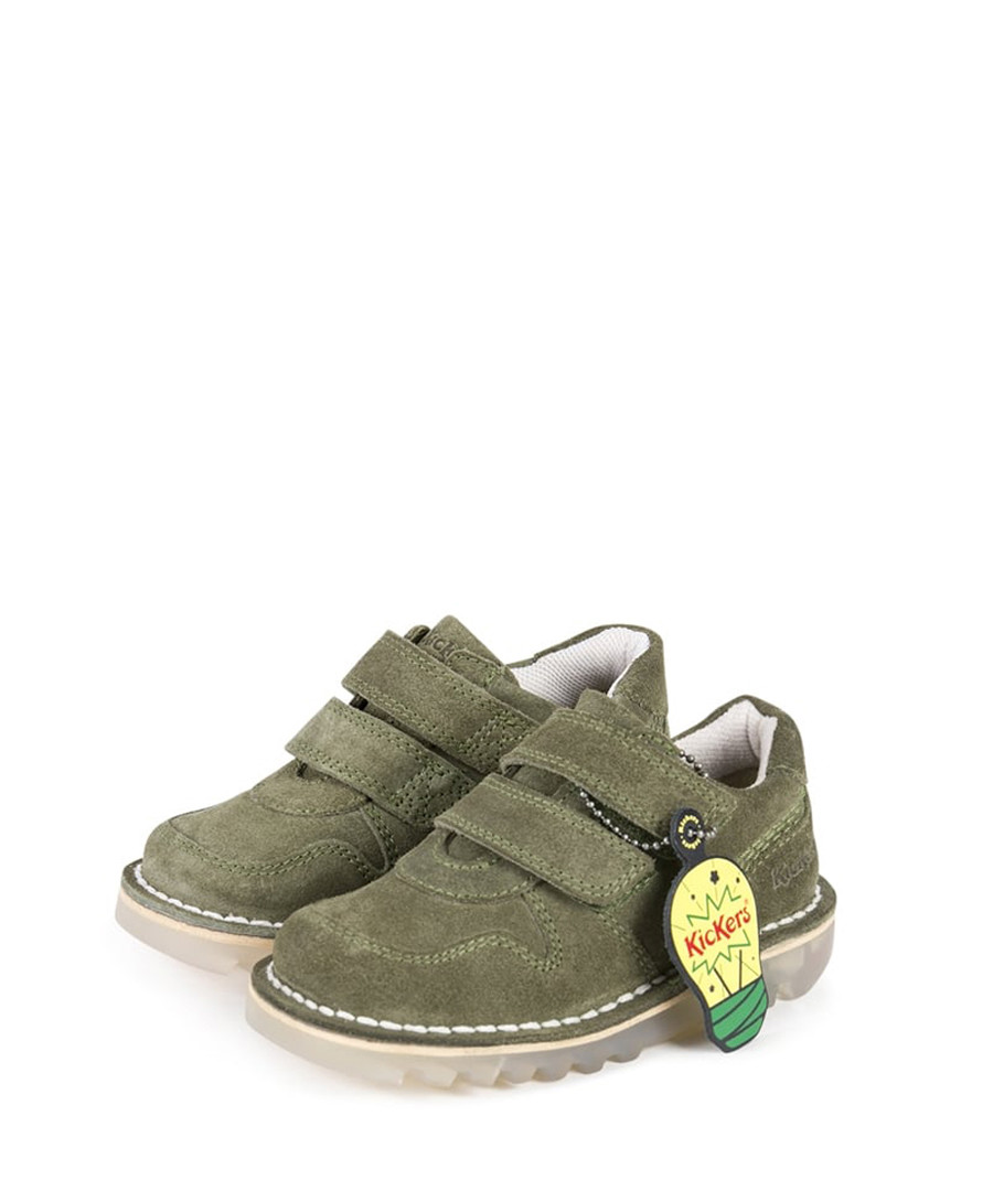 Kids' khaki suede sneakers Sale - kickers