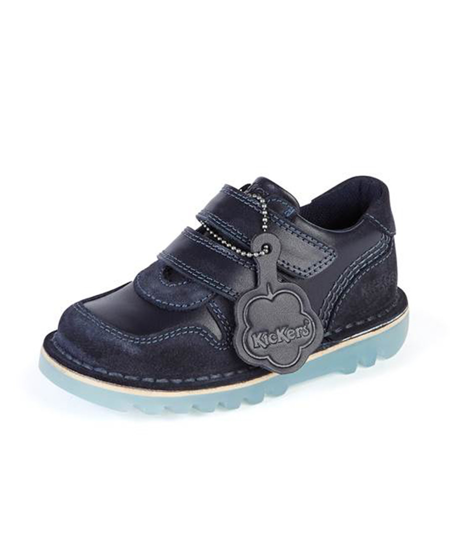 Kids' navy leather lace-up boots Sale - KICKERS
