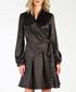 Black long sleeve wrap dress Sale - CARLA BY ROZARANCIO Sale