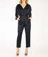 Dark blue V-neck jumpsuit Sale - CARLA BY ROZARANCIO Sale