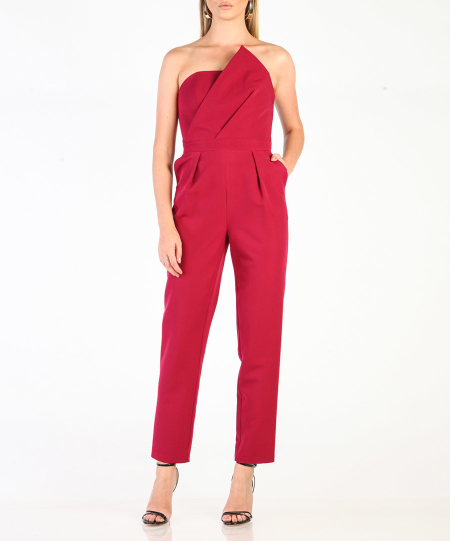 Purple strapless jumpsuit Sale - CARLA BY ROZARANCIO
