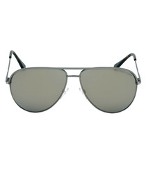 Matte dark ruthenium mirror sunglasses