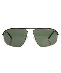 Matte black & green sunglasses