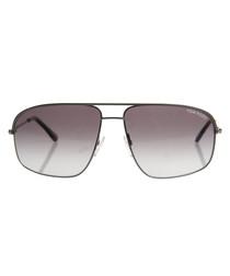 Ruthenium & grey sunglasses