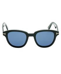 Black & blue square sunglasses