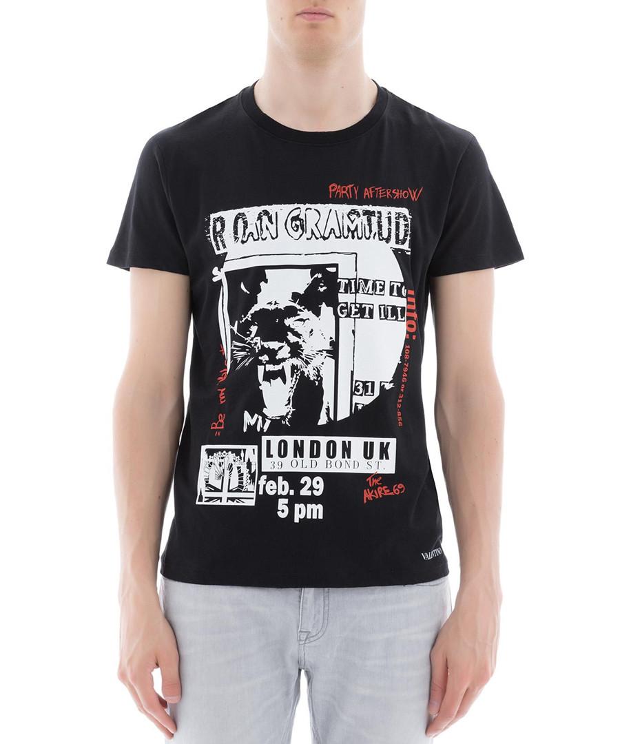 e74e98c5c Discount Men's black pure cotton slogan T-shirt | SECRETSALES