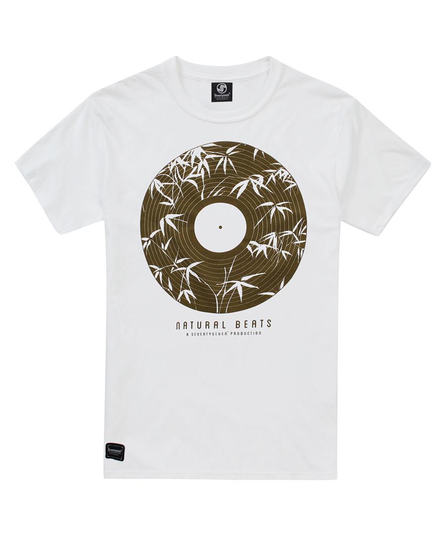 White pure cotton print T-shirt Sale - seventy seven
