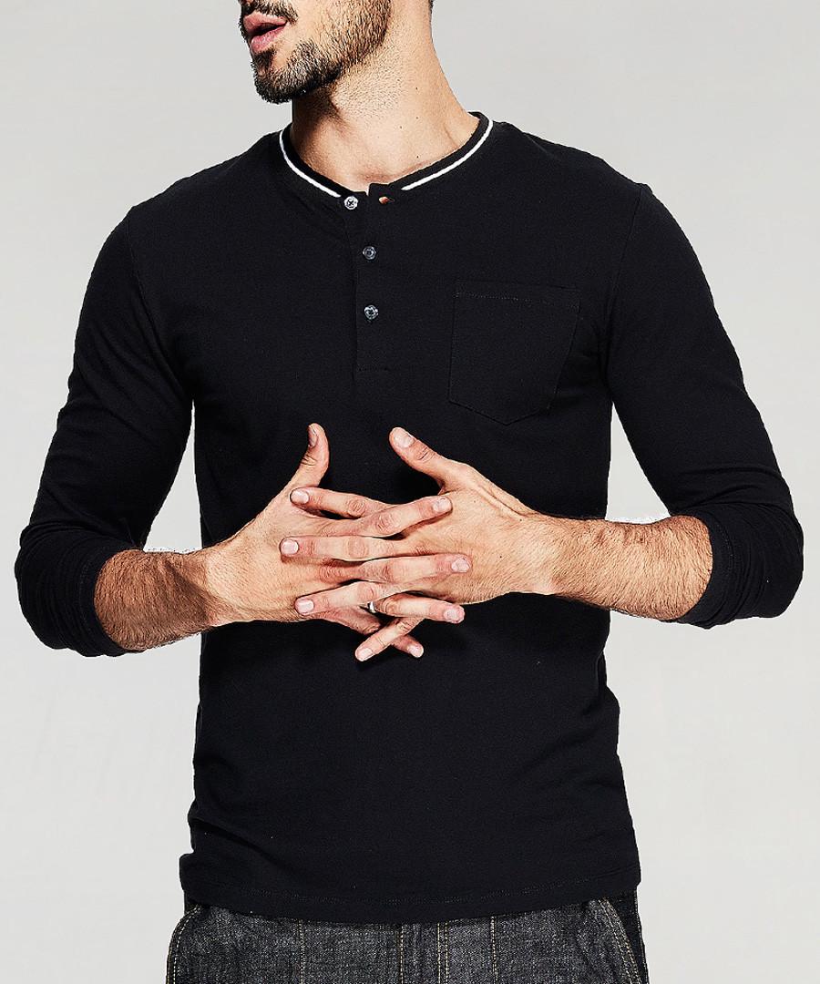 Black cotton long sleeve top Sale - kuegou