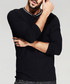 Black cotton long sleeve top Sale - kuegou Sale