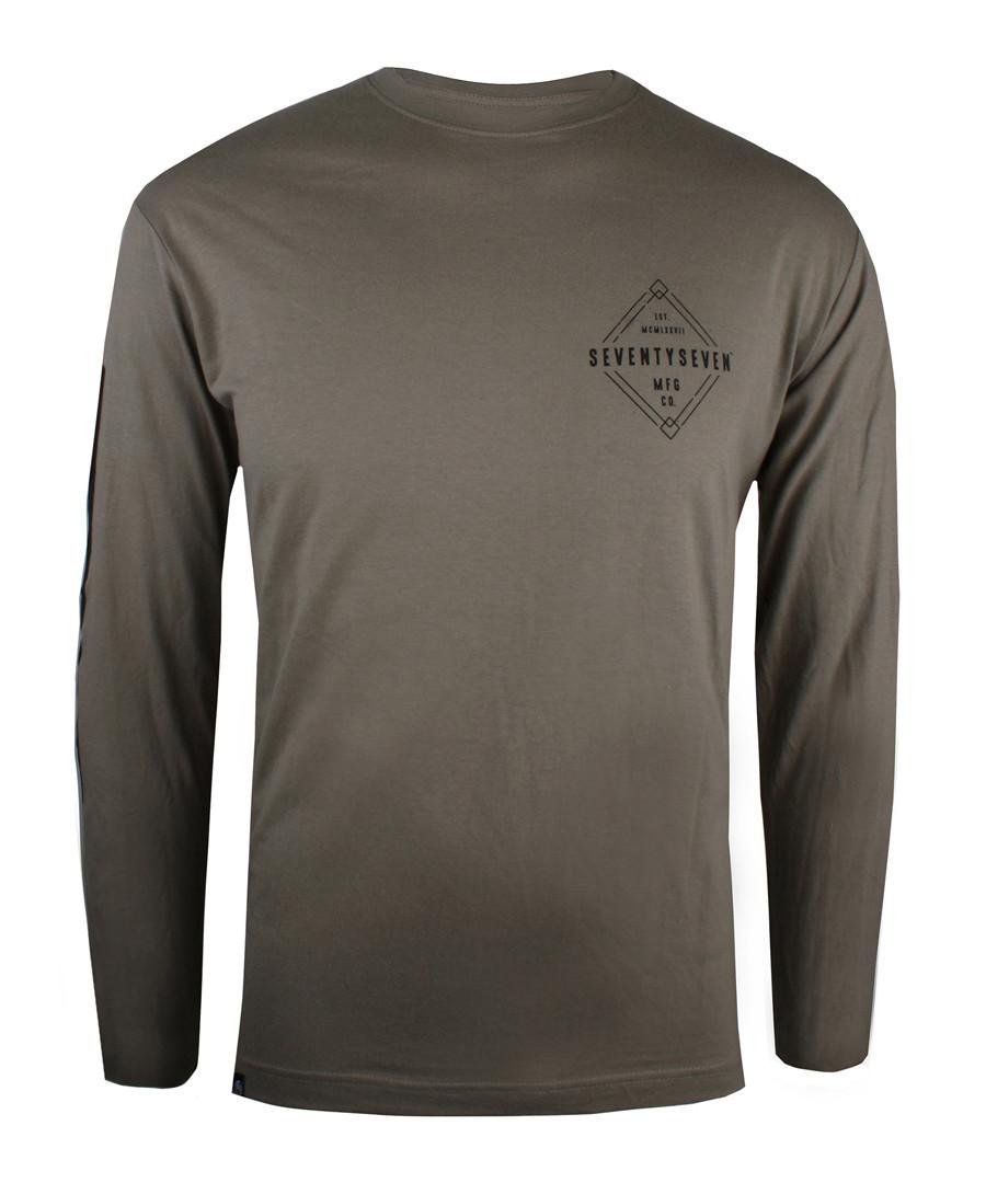 Khaki pure cotton long sleeve top Sale - seventy seven