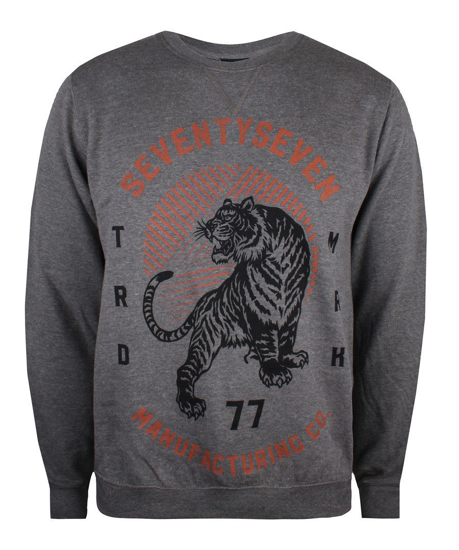Heather grey cotton blend jumper Sale - seventy seven