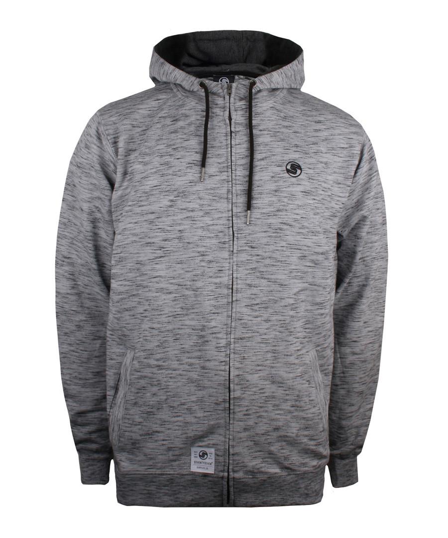 Grey cotton blend zip-up hoodie Sale - seventy seven