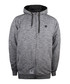 Grey cotton blend zip-up hoodie Sale - seventy seven Sale