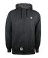 Charcoal cotton blend zip-up hoodie Sale - seventy seven Sale