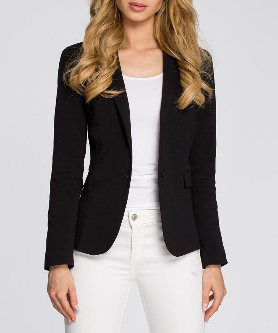 Black cotton blend jacket Sale - made of emotion