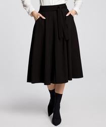 Black pleated pocket skirt