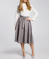 Grey pleated pocket skirt Sale - made of emotion Sale