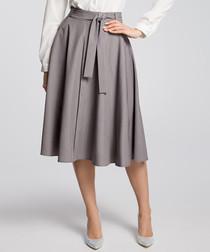 Grey pleated pocket skirt