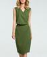 Green V-neck sleeveless pencil dress Sale - made of emotion Sale