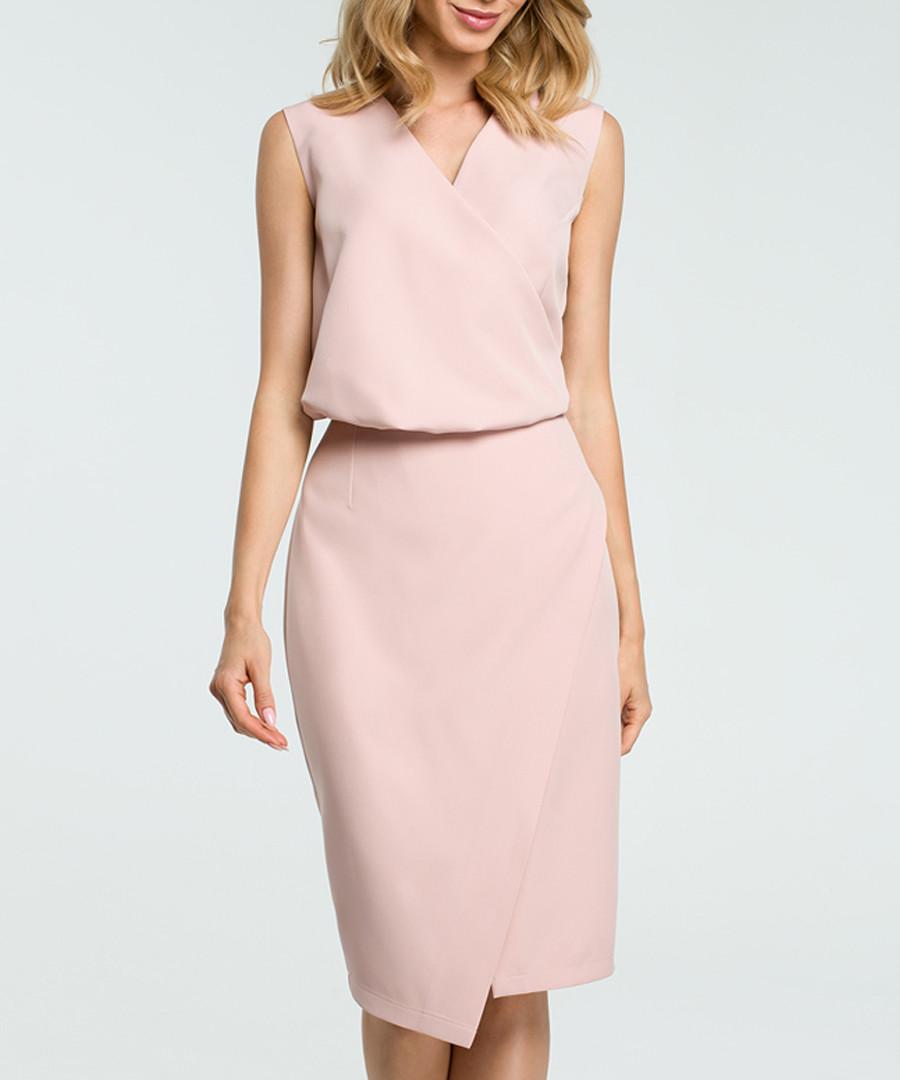Powder V-neck sleeveless pencil dress Sale - made of emotion