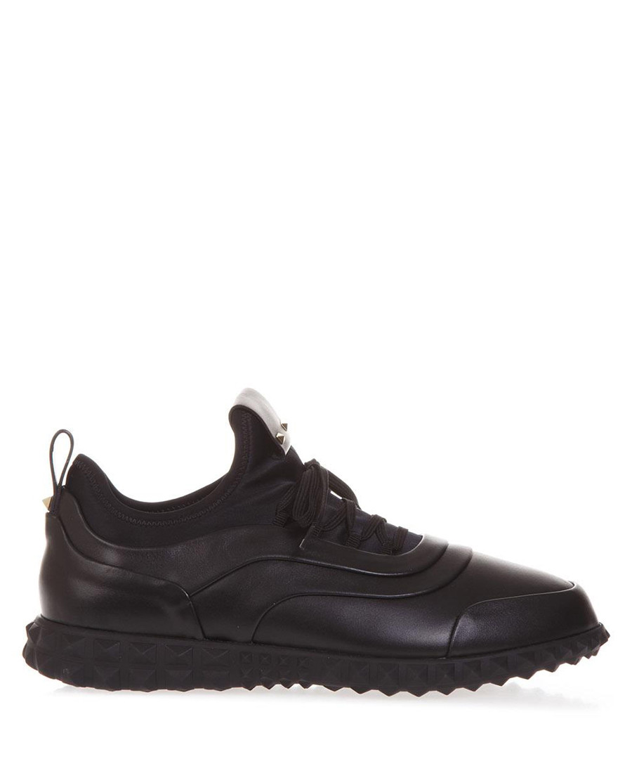 Black leather lace-up sneakers Sale - valentino
