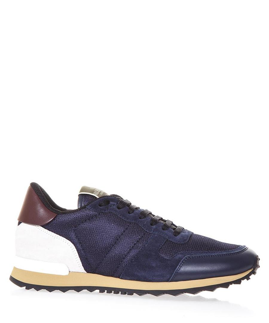 Men's Rockrunner blue leather sneakers Sale - Valentino Garavani