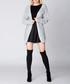 Light grey long knit cardigan Sale - Mosali Sale