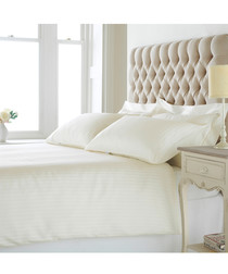 Eton cream cotton king duvet set